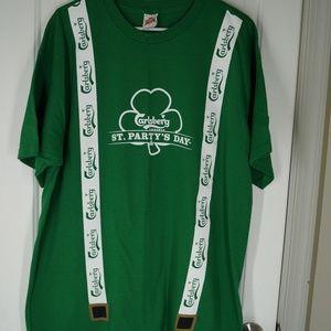 Carlsberg St. Patrick's Day Suspenders XL Tee
